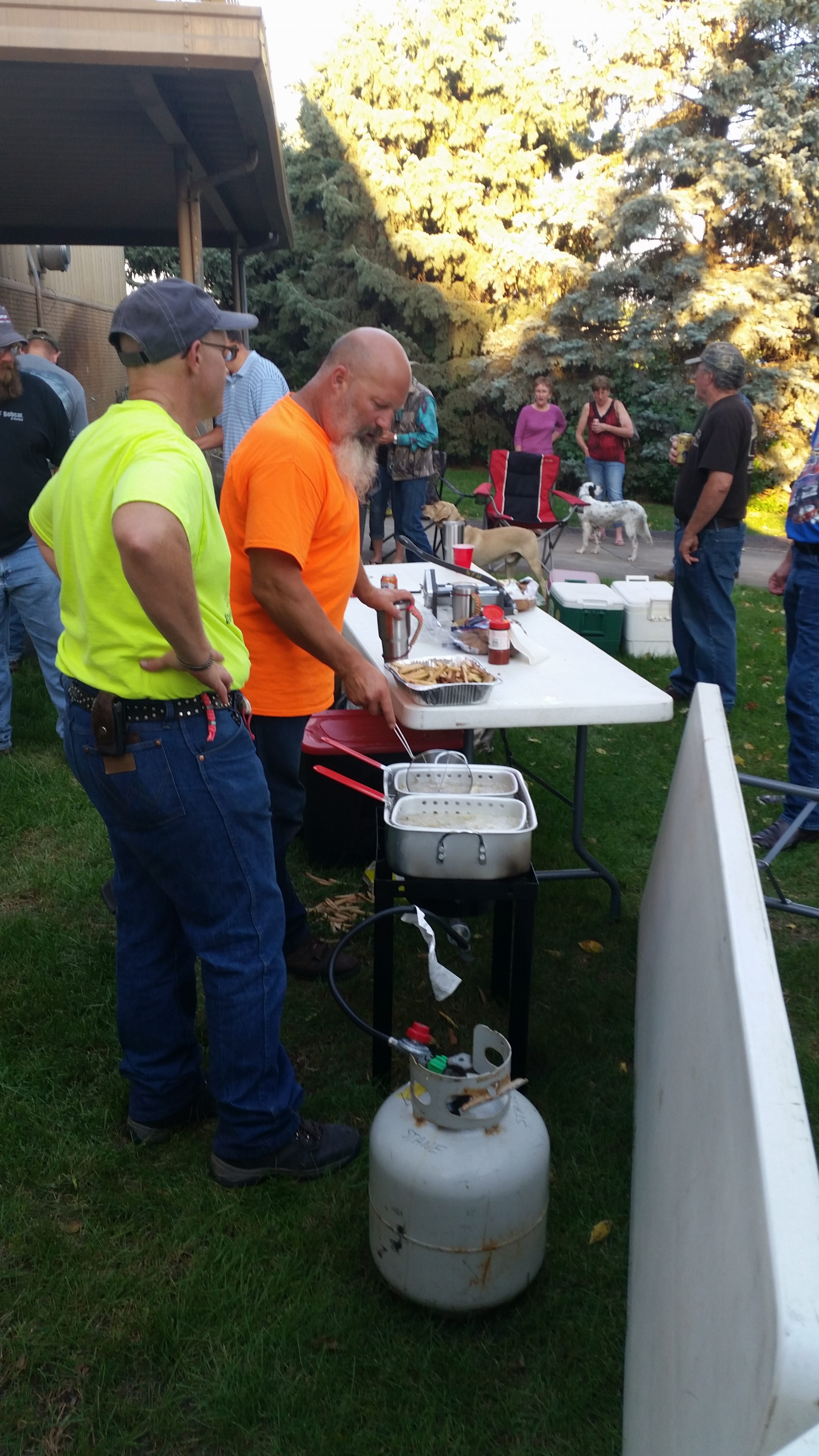Cooking at the fish fry